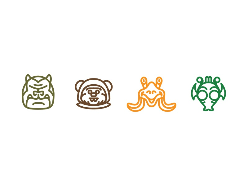 Star Wars icons v3 - Aliens by Hans Bennewitz on Dribbble