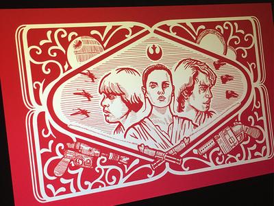 Star Wars poster illustration