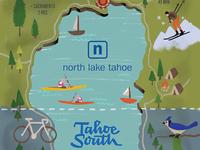 Lake Tahoe map illustration