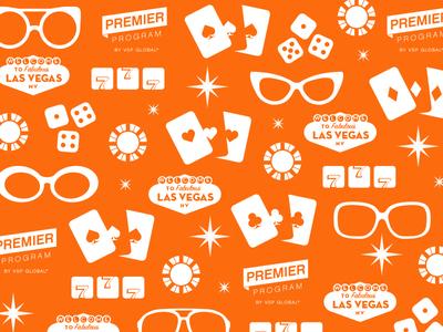 Vegas Showbag pattern one-color glasses gambling vegas design pattern