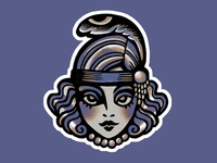 Flapper Girl sticker