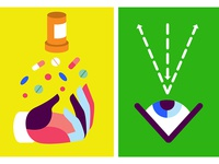 Top Docs — Illustration (pill use, eye surgery)