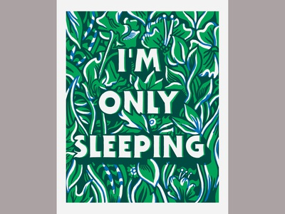 I'm only sleeping RISO print