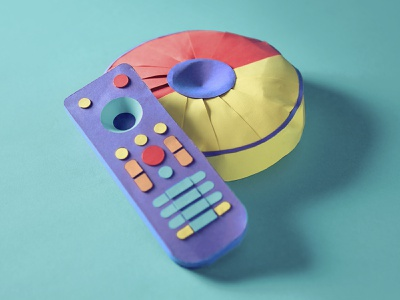 Isolation inspired P cozy isolation tv remote remotecontrol papercraft paper pillow 36daysoftypep 36daysoftype