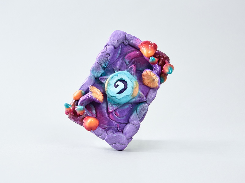 "Hearthstone ""Blushroom"" Recreate airbrush foam clay fan art game art hearthstone craft"