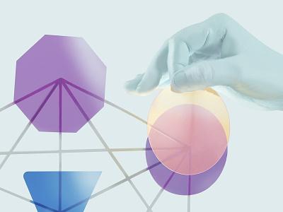 Detail real gels tactile illustration tactile design hand