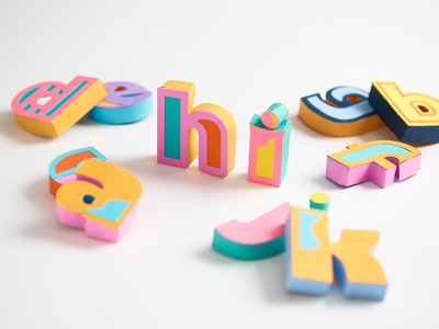Late to the 36 days of type party - per usual handmade 36daysoftype papercraft paper