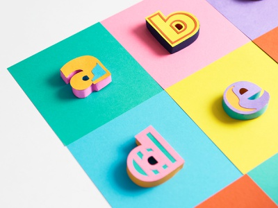 Paper Letters - showcasing the sides