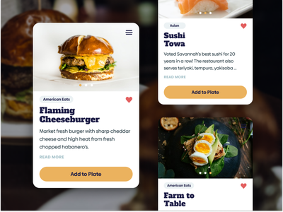 Hungry? app design food unfold product