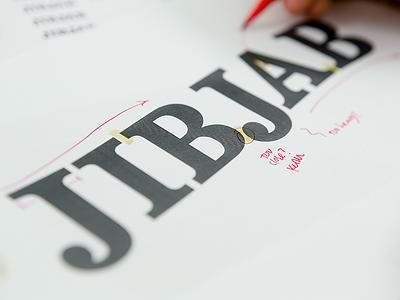 JibJab Process focus lab brand type design such yow