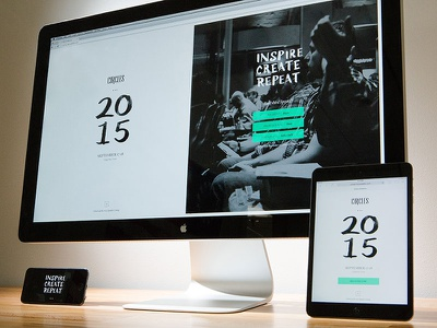 2015 Circles Splash Page (delicious UI photography) focus lab responsive ui photography not a mockup