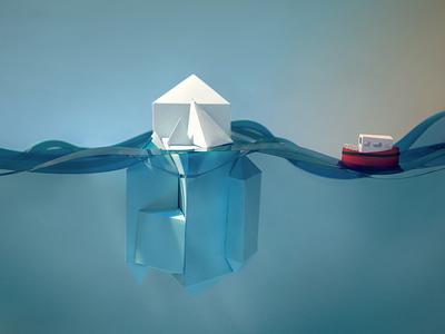 Iceberg Process boat iceberg paper craft focus lab
