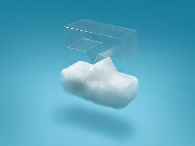 Crossbeam Logo Photo-illustration Iteration illustration photography floating sky air plastic cloud focus lab paper craft