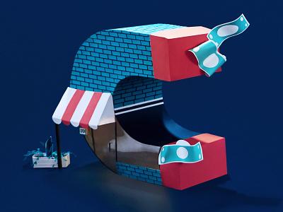 Money Magnet marketing campaign marketing magnet company business retail shop money paper illustration paper paper craft