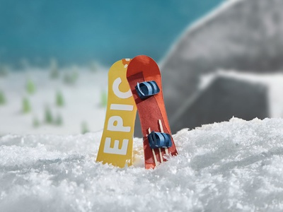 Something Epic is Coming winter snow mountains snowboards epicurrence snowboard