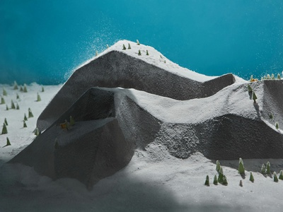 Epic Day mountain snow epiccurence paper illustration paper craft photography