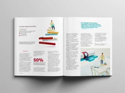 Temple University: Tuition Paper Illustrations still-life not a render paper craft paper illustration photography editorial illustration paper bar graph infographic education college tuition