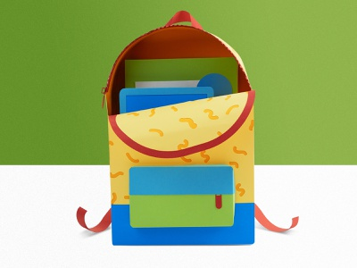 Paper Spot Illos!!! school supplies bookbag teacher elementary school elementary not a render pen pencil books paper illustration papercraft education paper