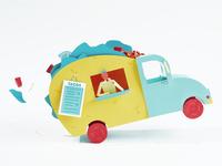 Paper Food Truck