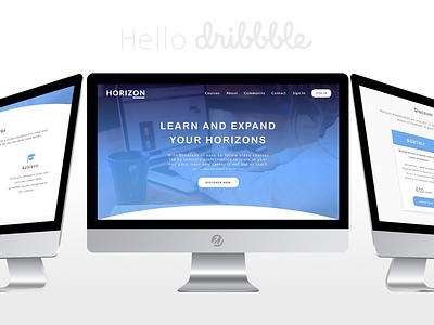 Hello Dribbble! - Horizon Design ui ux web design first shot debut