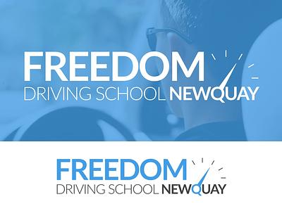 Logo Design - Freedom Driving School Newquay branding wordmark drive school logo logo design