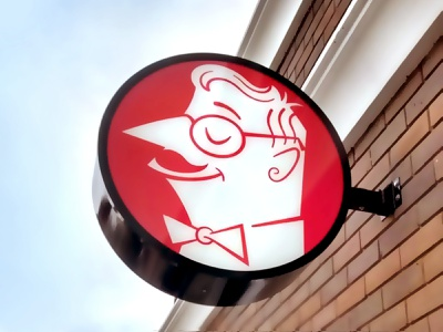 Esquina do Djalma Sign sign character mcm illustrative restaurant bar midcentury modern illustration logo signage