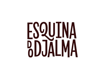 Esquina do Djalma Type Lockup bar 50s mcm revla sans midcentury modern identity branding logo typography type