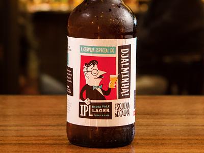 Esquina do Djalma IPL Beer Label fun brazil bar identity beer label design mcm midcentury modern packaging bottle beer beer label