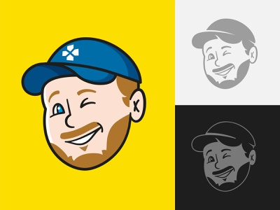Avatar for gaming YouTube channel gaming yellow fun youtube cartoon character identity avatar logo vector illustration