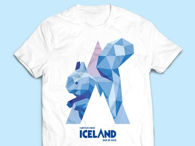 Squirrel T-Shirt for Iceland Ice Bar squirrel ice bar low poly illustration branding t-shirt design t-shirt