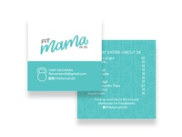 Fit Mama in 30 Business Card, Version 2