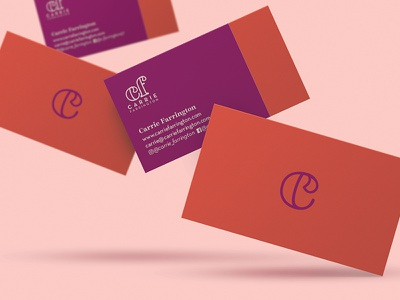 Business Card Design for Carrie Farrington layout inspo business card life coach identity logo logotype branding