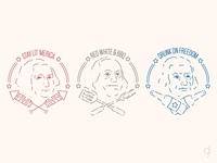 USA Founding Fathers Insignias