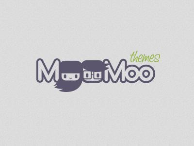 Moomoo themes logo character design logotype users brand identity