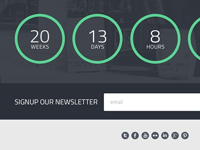 Comingsoon freebies comingsoon website landing newsletter social icons form counter