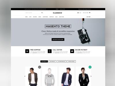 Theme magento theme design homepage slider minimal carousel