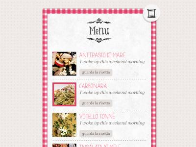 Menu Polletto&Pancackes menu restaurant recipes pattern tartan list ornaments preview icons set food icon blog