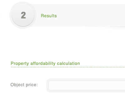 Step step results form price second calculation clean usable gray light progress bar