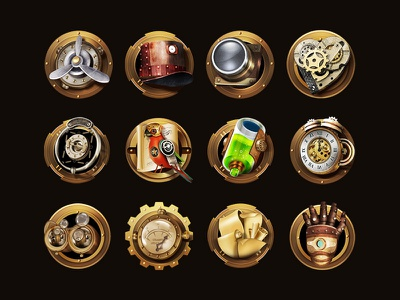Steam Punk II mechanical steamage icon app gui game punk steam steampunk