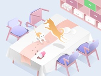 Pets on my table