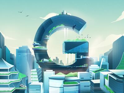 5G Futuristic City