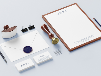 Aldebaran – Law firm identity stationary logodesign law firm logo classy law firm brand identity