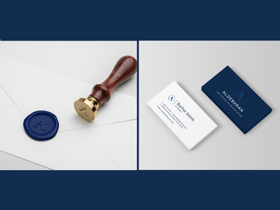 Aldebaran – Law firm identity branding emblem classy law firm brand identity stationary