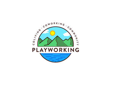 Logo for coworking space in Montenegro