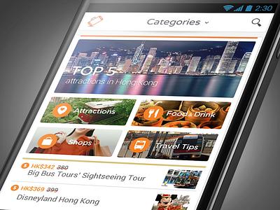 Handy - hong kong tourism app tourism hong kong smartphone rental android launcher ui travel app