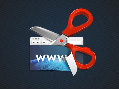 Clipit icon redesign icon design illustration scissors www cut screen cap