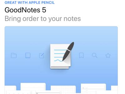 GoodNotes 5 on AppStore logo productivity ipad appstore