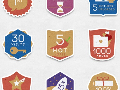 more badges badges icons social networking illustrations