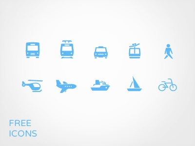 Transportation Icon set for free  freebie icon set transportation pictogram icon
