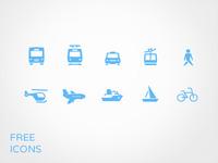 Transportation Icon set for free